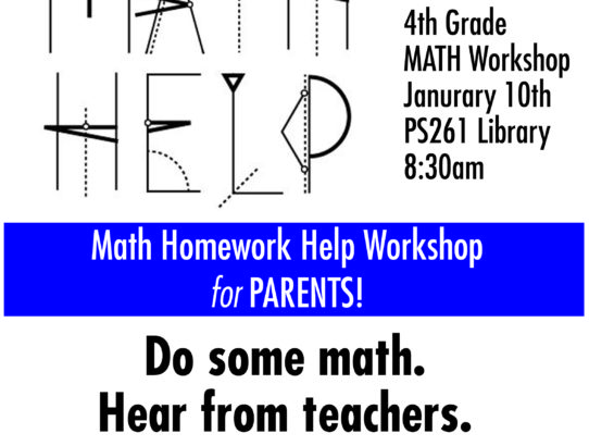 4th Grade Math Homework Help Workshop for Parents