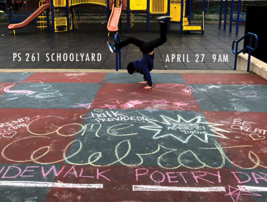 Sidewalk Poetry Day!