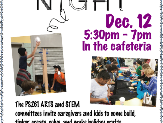 Maker Night! December 12th @5:30pm
